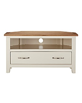 Harrogate Two Tone Oak Corner Tv Unit J D Williams
