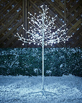 White Blossom Twinkling Tree