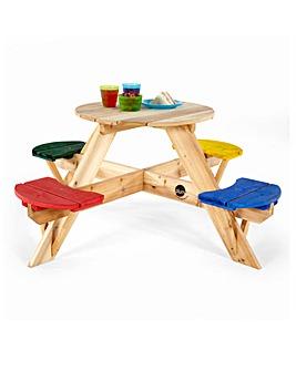 Plum Circular Picnic Table