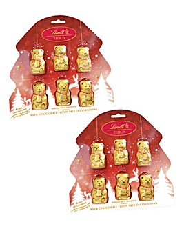 Twin Pack Lindt Teddy Bear Baubles