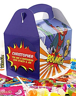 Personalised Superhero Sweets Box