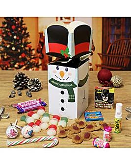 Personalised Snowman Sweetie Box