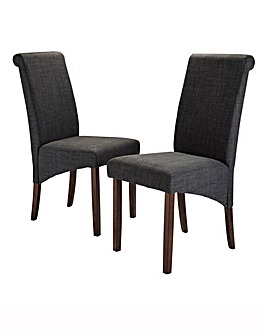 Siena Fabric Pair of Chairs