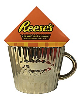 Gold Reeses Mug & Peanut Butter Cups