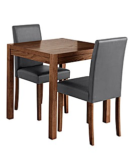 Oakham Dining Table and 2 Mia Chairs