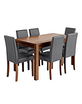 Oakham Dining Table and 6 Mia Chairs