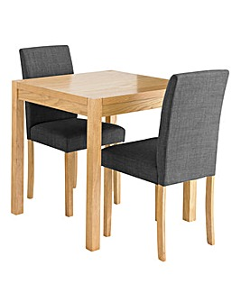 Oakham Table 2 Mia Fabric Chairs