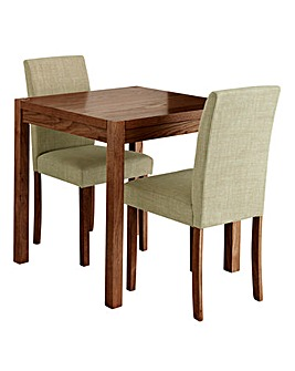 Oakham Square Table and 2 Mia Chairs