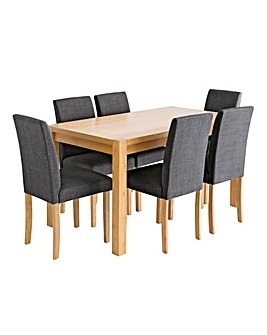 Oakham Rectangular Table 6 Mia Chairs
