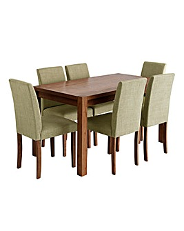 Oakham Rectangular Table 6 Mia Chairs