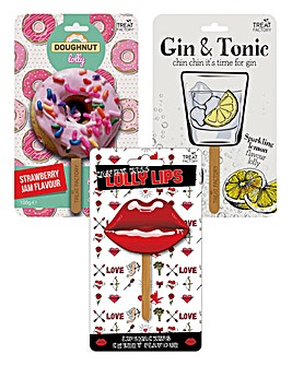 3 Lollies (Lips, Doughnut & Gin & Tonic)