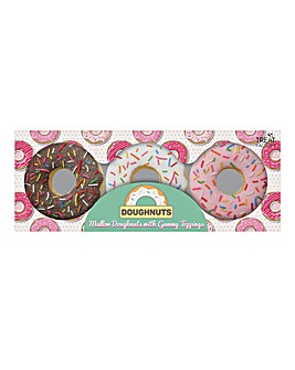 3pk Doughnut Mallows With Gummy Topping