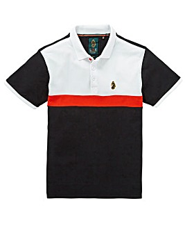 Luke Sport Black Mix Fosbury Vintage Stripe Polo Regular