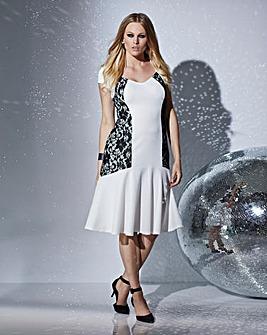 Lace & Waffle Illusion Bodycon Dress
