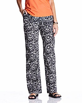 Animal Print Combat Trousers Short