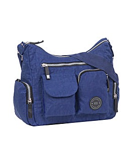 New Rebels Crinkle Nylon Shoulder Bag