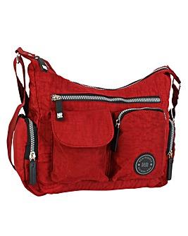 New Rebels Crinkle Nylon Shoulder Bag