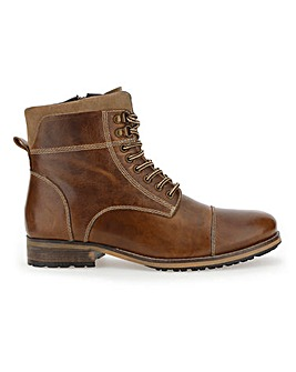 Joe Browns Rugged Leather Boot EW Fit
