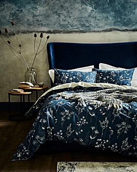 Serenity Navy Printed Duvet Cover Set
