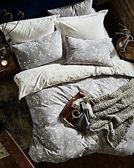 Serenity Grey Printed Duvet Cover Set
