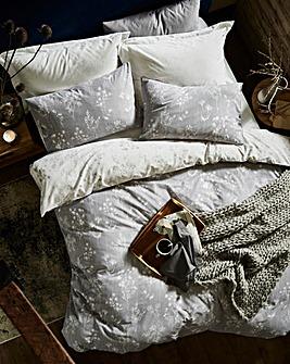 Serenity Grey Printed Duvet Cover Set
