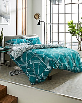 Brooklyn Geo Petrol Duvet Set