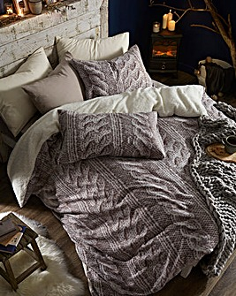 Cable Knit Fleece Duvet Cover Set