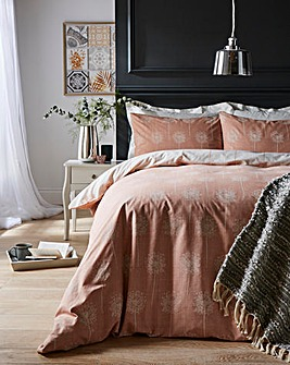Silhouette Coral Duvet Cover Set