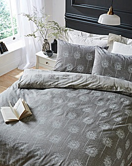 Silhouette Grey Duvet Cover Set