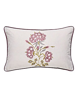 Secret Garden Embroidered Boudoir Cushion