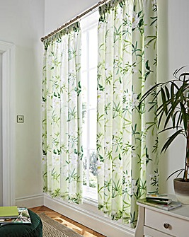 Florence Floral Lined Curtains