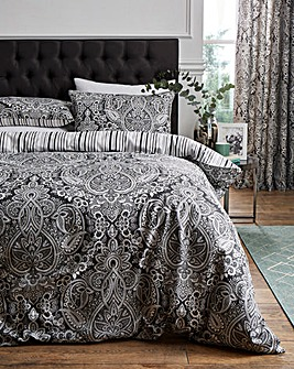Maduri Black Duvet Cover Set