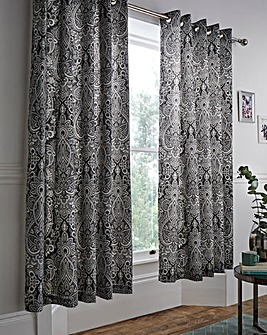 Maduri Black Lined Curtains