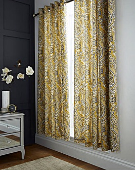 Maduri Ochre Lined Curtains
