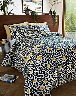 Leopard Reversible Duvet Cover Set