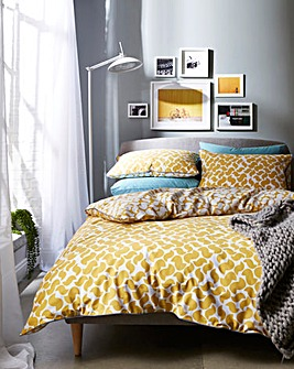 Appletree Eton Ochre Cotton Duvet Set
