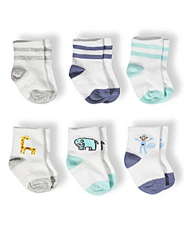 Aden & Anais Baby Boy Pack of Six Socks