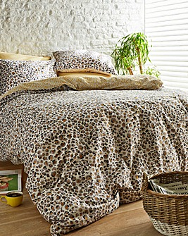 Lovely Leopard Ochre Duvet Set