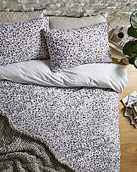 Lovely Leopard Charcoal Duvet Set