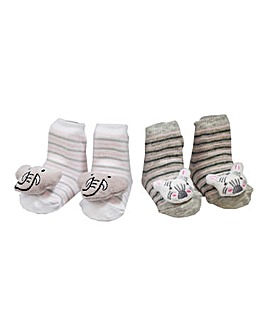 Aden & Anais Pack of Two Rattle Socks