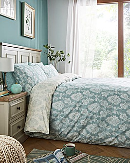 Nadia 180 Thread Count Reversible Teal Duvet Set