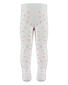 Aden & Anais Baby Girl Mini Heart Tights