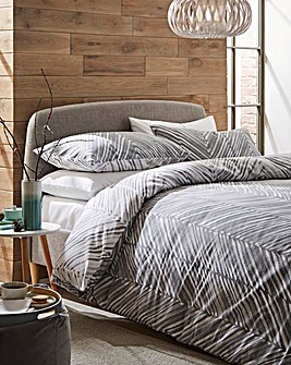 Harrow Geo Reversible Brushed Cotton Duvet Set