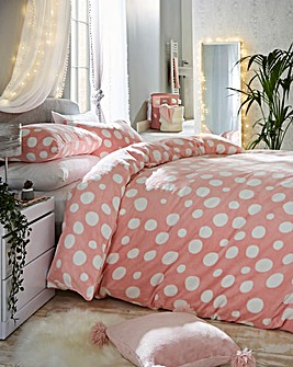 Polka Dot Cuddle Fleece Duvet Set