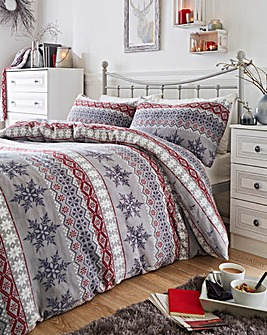 Fairaisle Cuddle Fleece Duvet Set