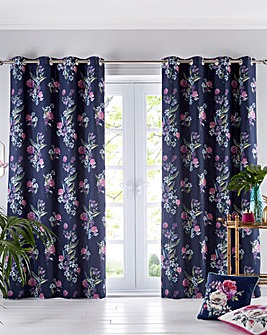 Oasis Luna Lined Midnight Curtains
