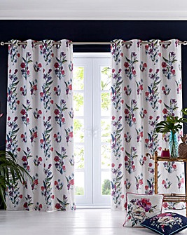 Oasis Luna Lined Ivory Curtains