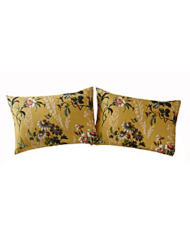 Oasis Leighton 180 Thread Count Ochre Pillow Cases