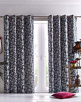 Oasis Amelia Charcoal Curtains