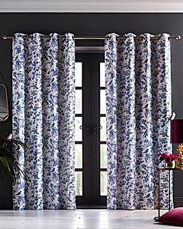Oasis Amelia Indigo Curtains